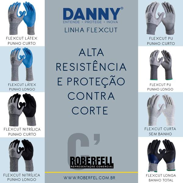 3bd68bb313e13 As luvas da linha Flexcut da Danny possuem uma excelente resistência contra  cortes